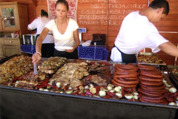 Beef and pork are a staple of the Hungarian diet. (James Deutsch/Smithsonian Institution)