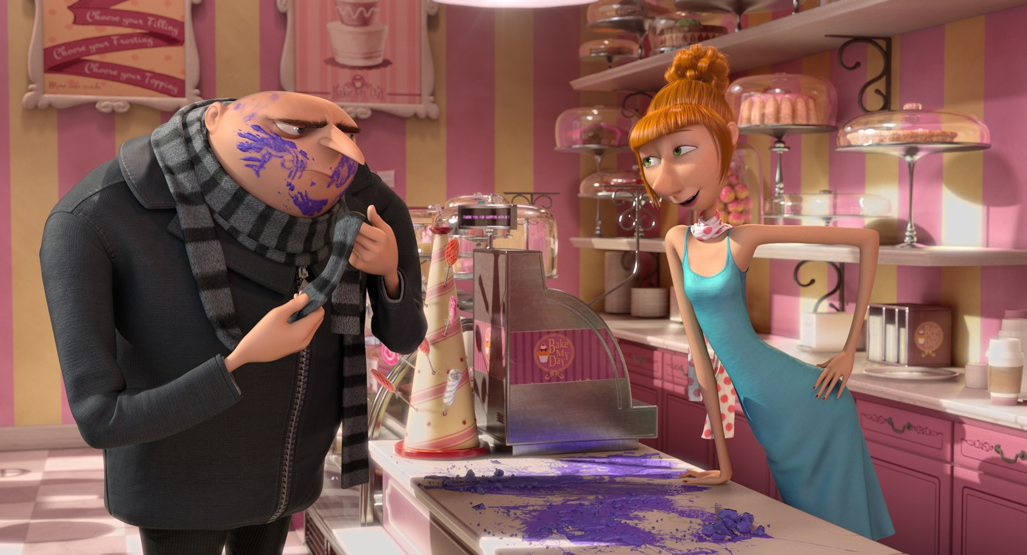 Gru (voice of Steve Carrel) and Lucy (Kristin Wilde) from Despicable Me 2. (Photo by Universal Pictures)