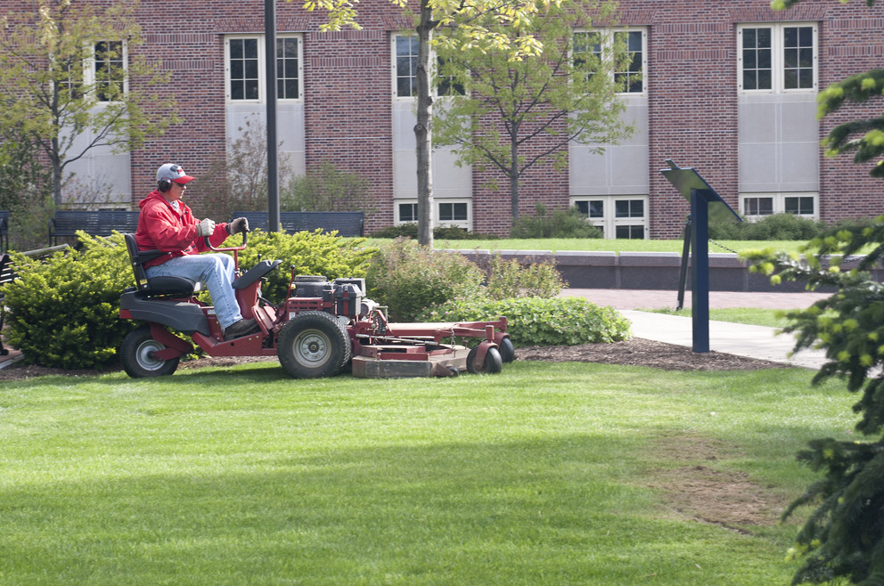 Both riding and push mowers can cause harm if not operated safely. (Patrick Mansell/Penn State)