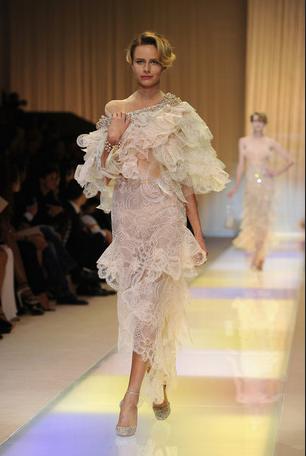 Armani prive runway at Paris Couture Week (Patrick Kovarik/AFP/Getty Images)