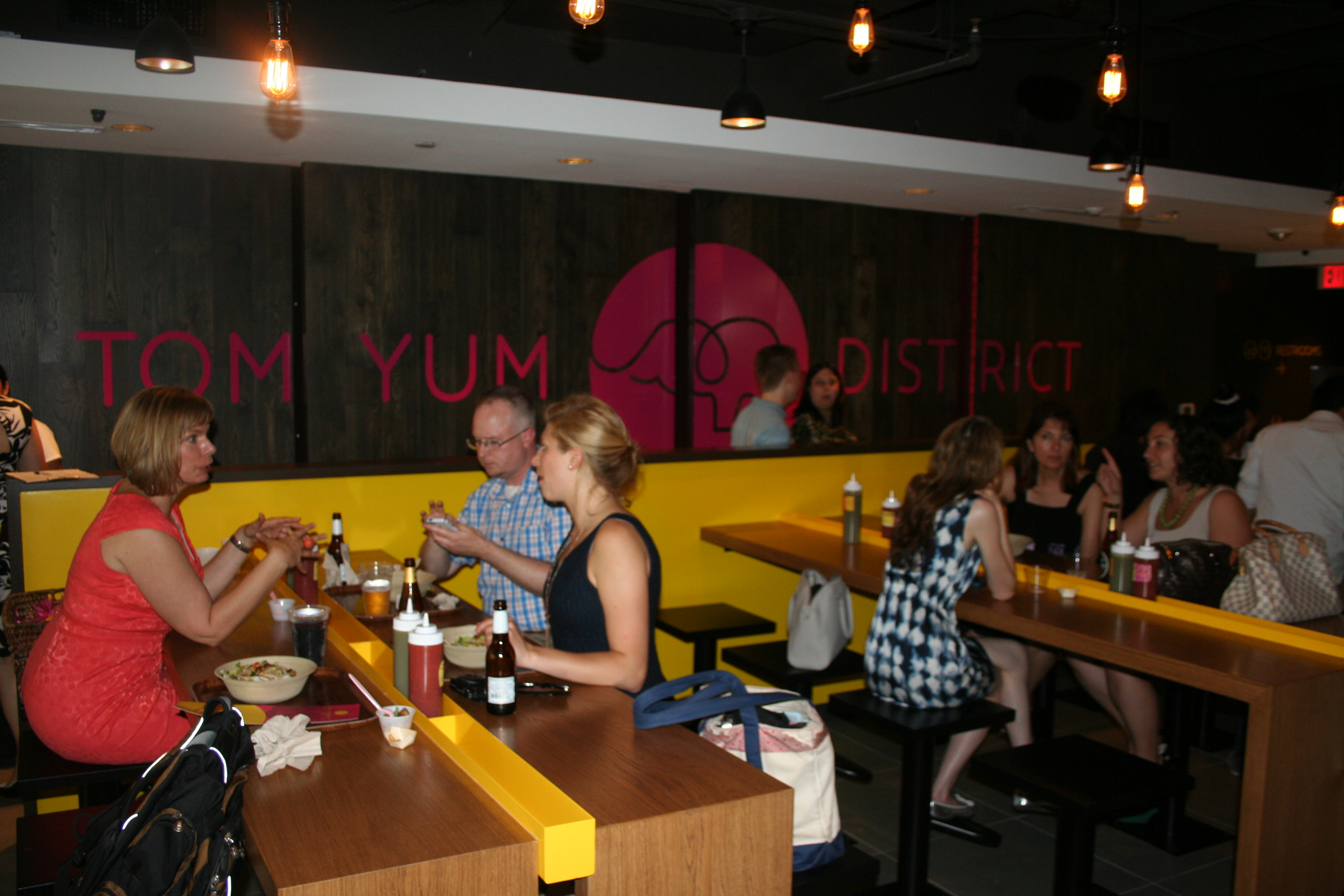 Tom Yum District, a casual Thai restaurant, opened in Rosslyn in late June. (Mark Heckathorn/DC on Heels)