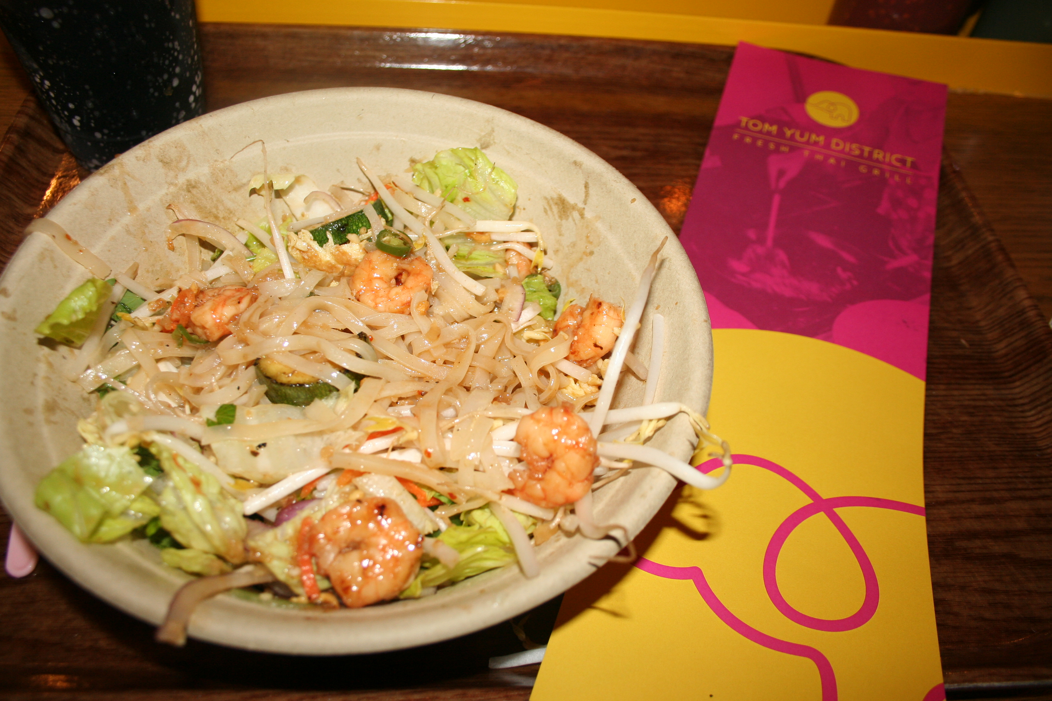 A noodle bowl with shrimp at Tom Yum District. (Mark Heckathorn/DC on Heels)