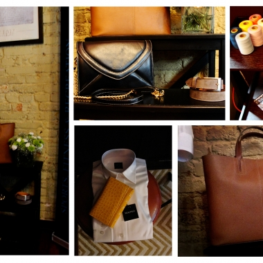 Beautiful leather bags, silk shirts and accessories. (Photos by Liz Parker/DC on Heels)