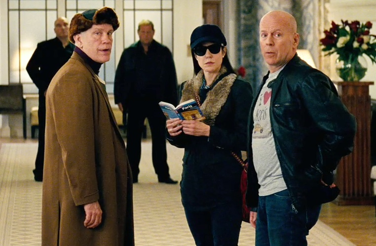 John Malkovich, Mary Louise Parker and Bruce Willis are out of retirement in Reds 2. (Photo courtesy of Summit Entertainment)