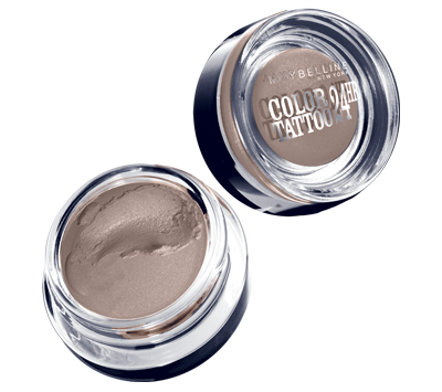 Make your baby blues glow with Color Tattoo Tough as Taupe by Maybelline