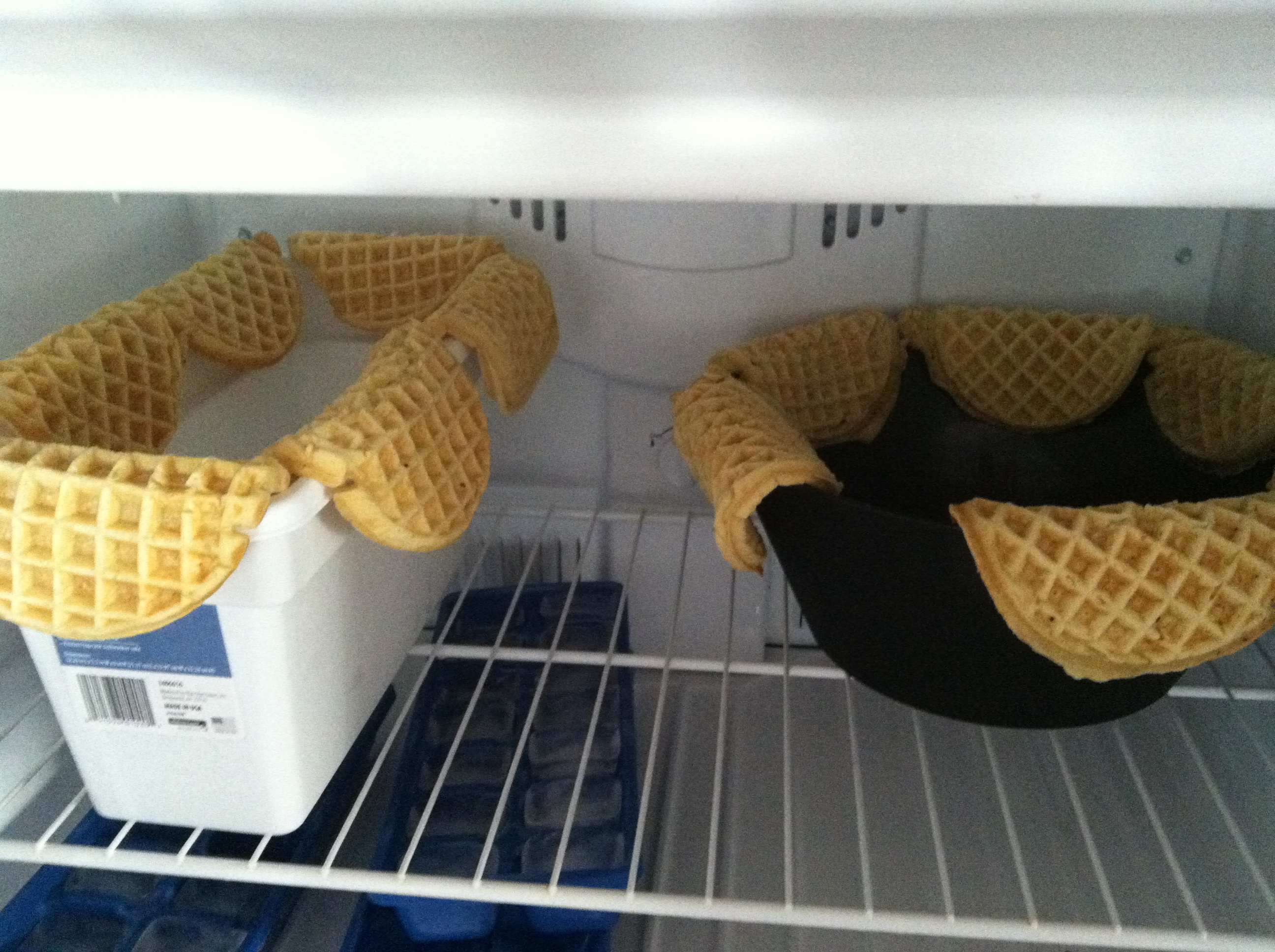 A freezer of waffle tacos (Kristy McCarron/DC on Heels)
