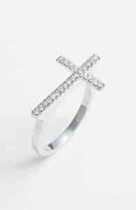 Diamond Cross Ring (Courtesy: shop.nordstrom.com)