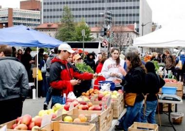 The Dupont Circle farmers' market (Photo courtesy of Borderstan)