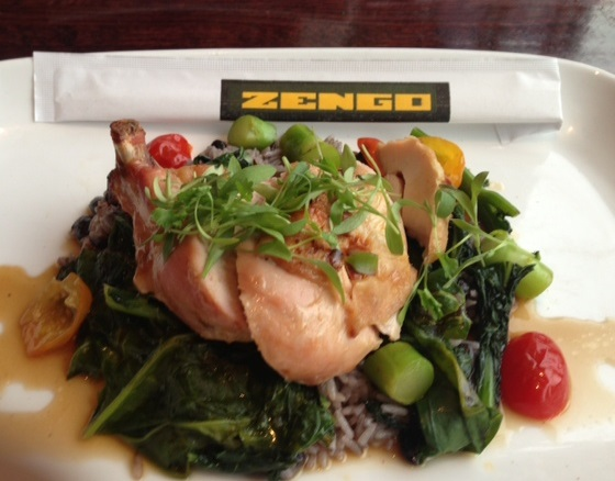 Hong Kong Roast Chicken w/ good greens.