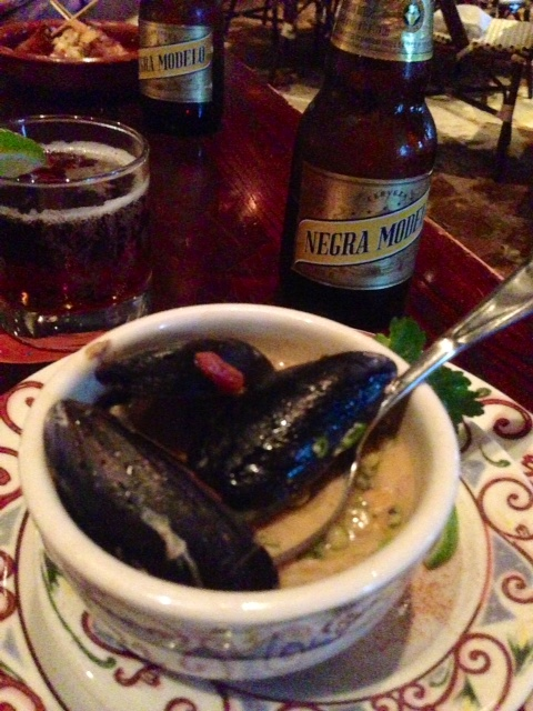 Levanta muerto seafood soup -- good enough to