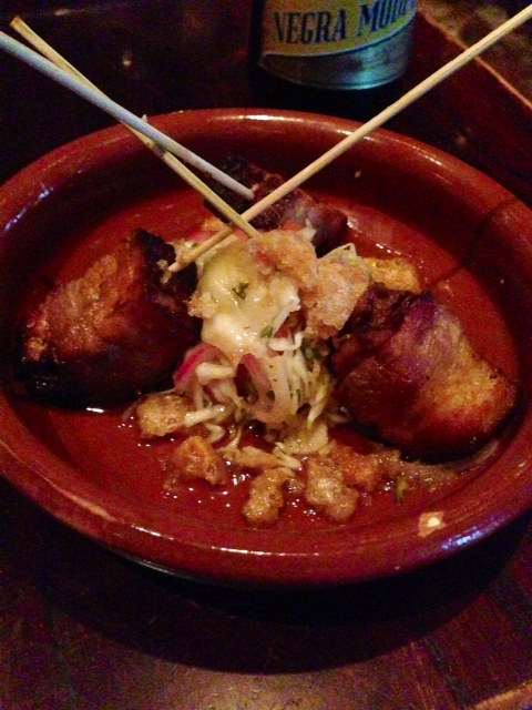 crisp pork belly pinchos -- bite sized goodness. (Richard Barry/DC on Heels)
