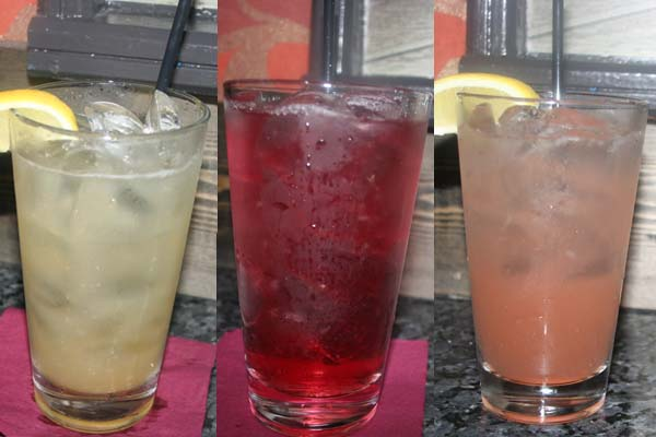 The Tavern Lemonade, the Potomac and the King Street Cooler at Flat Iron. (Mark Heckathorn/DC on Heels)