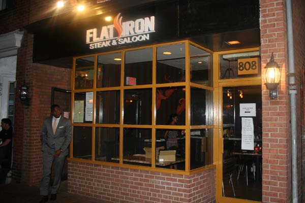 Flat Iron Steak & Saloon opened recently on King Street in Old Town Alexandria (Mark Heckathorn/DC on Heels)