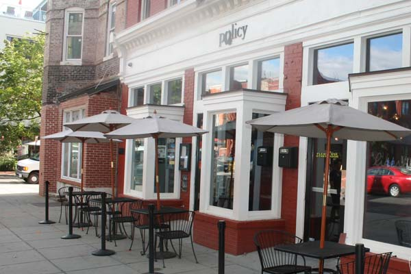 Policy restaurant and bar near 14th and U Streets NW. (Mark Heckathorn/DC on Heels)
