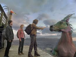 Our young heros encounter a mythical sea creature. (Photo courtesy of 21st Century Fox)