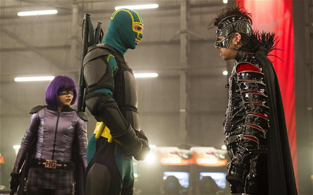 Hit Girl and Kick-Ass meet  super villain The Mother F**ker. (Photo courtesy Universal Pictures)