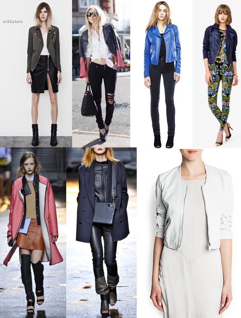 Leather looks. (Images via fashion.telegraph.co.uk, fashiongonerogue.com and refinery29.com)