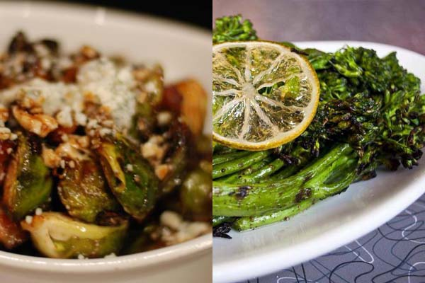 Sides include roasted Brussels sprouts and broccolini (Mark Heckathorn/DC on Heels)