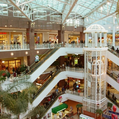 Shoppers at the Fashion Centre at Pentagon City. (Photo: Ben Schumin)