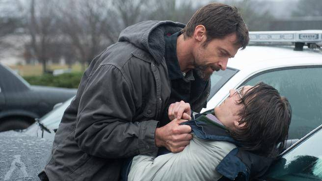 Hugh Jackman and Paul Dano in a scene from Prisoners. (Photo: Warner Bros. Pictures)