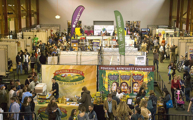Visitors and vendors at lasts year's Green Festival. (Photo: Green Festivals)