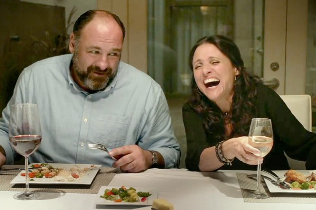 Albert (James Gandolfini) and Eva (Julia  Louis-Dreyfus) share a laugh in Enough Said. (Photo: Fox Searchlight)
