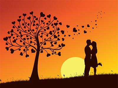 sunset kissing3