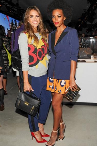 Jessica Alba & Solange Knowles in Philip Lim for Target (Photo: targetstyle via Instagram)
