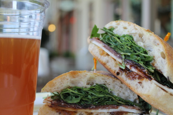 Sandwiches & Beer- a winning combination (Photo: Carrie Morgan)
