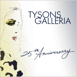 Tysons Galleria is celebrating its 25th anniversary. (Graphic: Tysons Galleria)