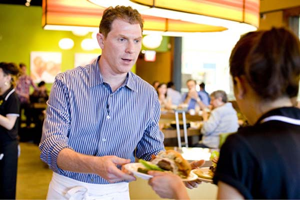 Bobby Flay at the opening of one of his Bobby's Burger Palaces. (Photo: Bobby's Burger Palace)