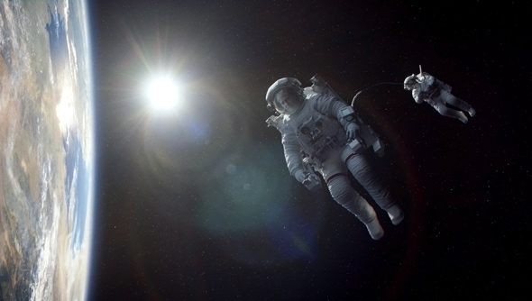 Gravity with Sandra Bullock and George Clooney held on to number one last weekend. (Photo: Warner Bros.)