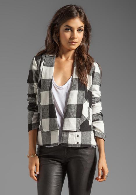 A black and white plaid jacket from BB Dakota. (Photo: BB Dakota)