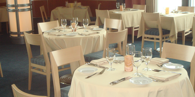 The newly remodeled dining room at the Kennedy Center's Roof Terrace Restaurant. (Photo: Zagat)