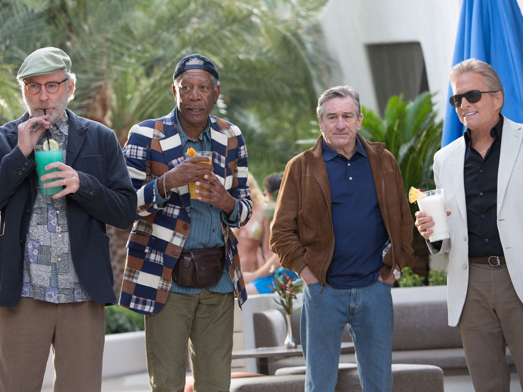 Kevin Kline, Morgan Freeman, Robert DeNiro and Michael Douglas star in Last Vegas. (Photo: CBS Pictures)