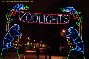 The entrance of ZooLights at the National Zoo. (Photo: Mike Becvar)