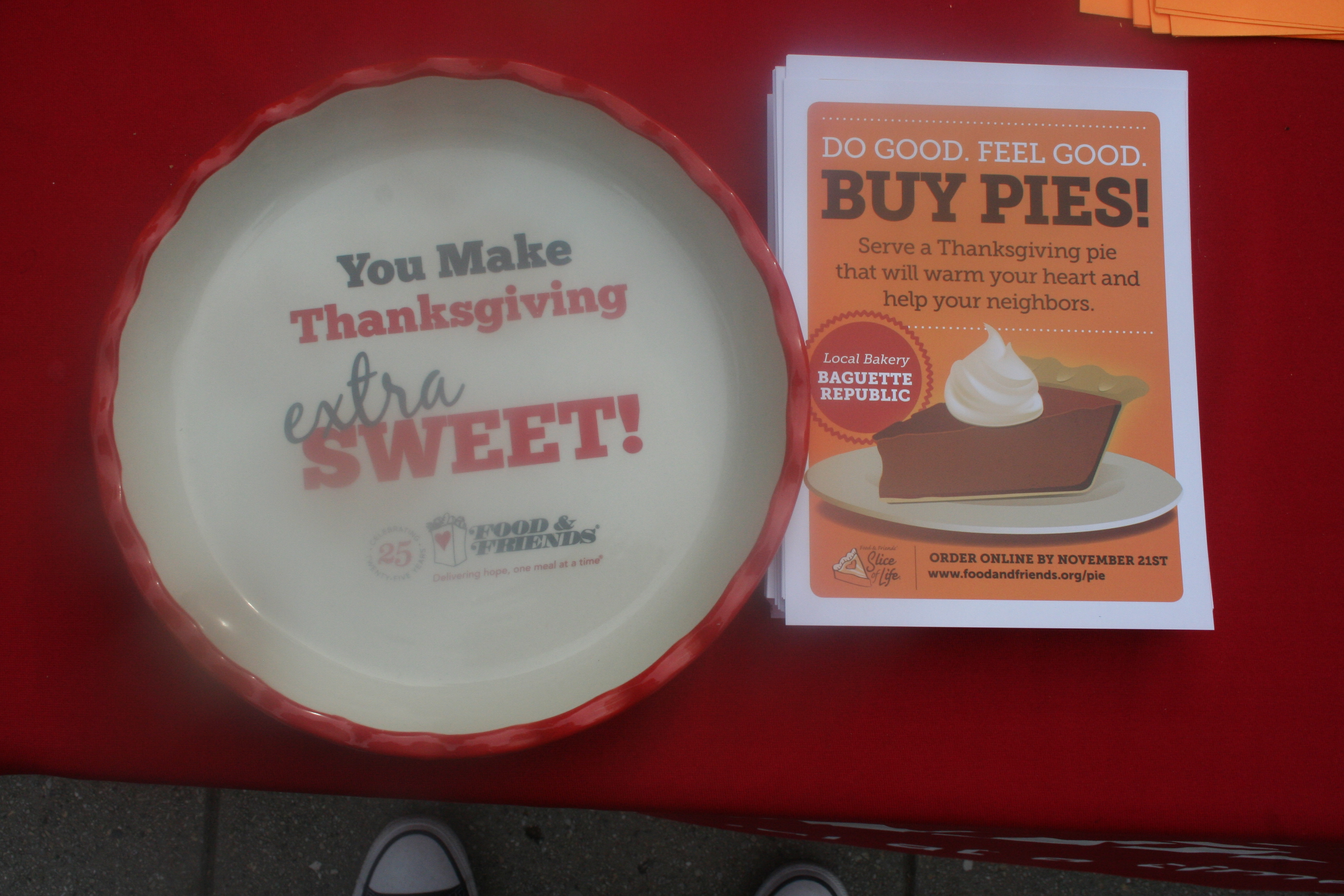 Food & Friends hopes to sell 8,500 Thanksgiving pies and raise $290,000 to feed patients with HIV/AIDS and cancer. (Photo: Mark Heckathorn/DC on Heels)