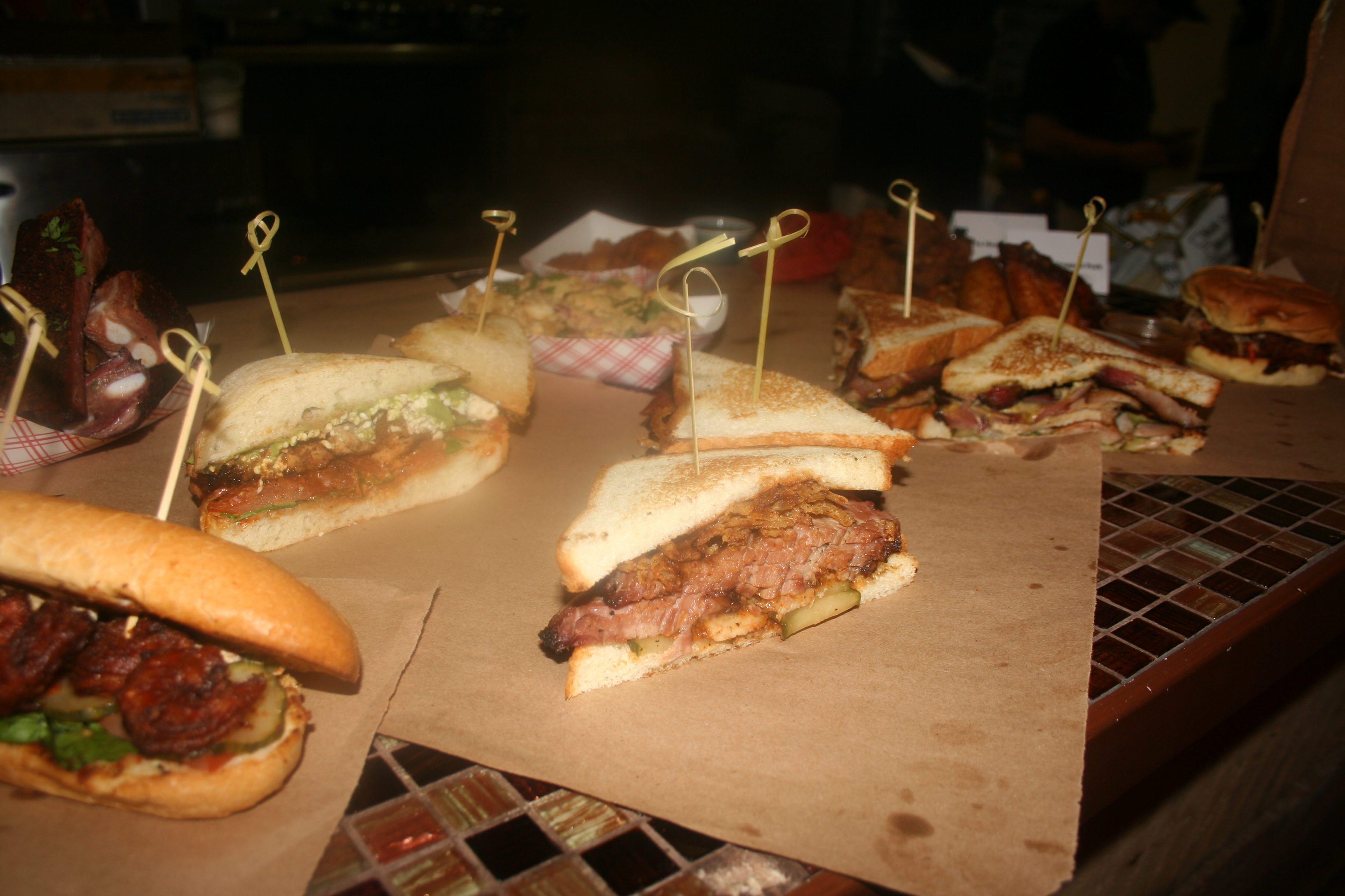 A sampling of the dishes at DCity Smokehouse. (Photo: Mark Heckathorn/DC on Heels)