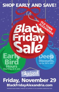 Over 50 local businesses are offering Black Friday Discounts in Alexandria. (Graphic: Shop Local Alexandria)