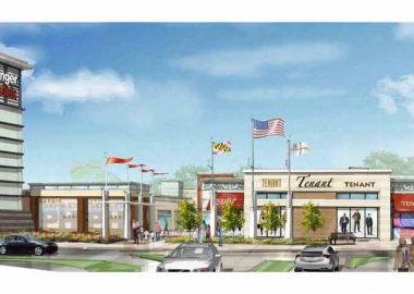 An artists rendering of the new Tanger Outlets National Harbor. (Photo: Tanger Outlets)
