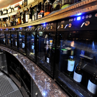 Tel'Veh has a Vinotemp wine dispenser; a temperature and humidity-controlled wine system that preserves open bottles of wine with nitrogen gas. (Photo: Otim-Williams)