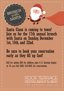 Brunch with Santa (Graphic: Roof Terrace Restaurant)