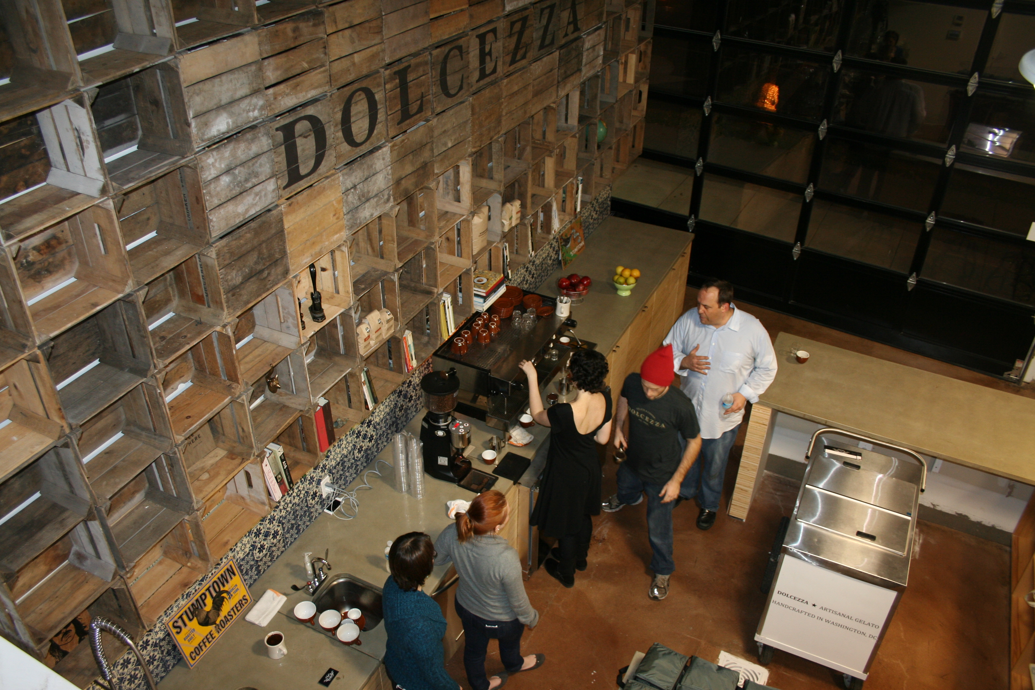Employees at Dolcezza's new coffee lab. (Photo: Mark Heckathorn/DC on Heels)