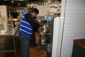 Dolcezza employees make Georgia butter pecan gelato. (Photo: Mark Heckathorn/DC on Heels)