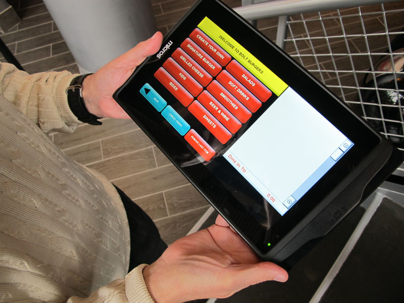 A computer tablet diners will use to order their meals and pay. (Photo: Washington Post)