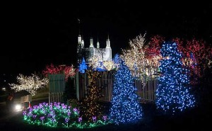 The Church of Jesus Christ of Latter-Day Saints (Mormons) Festival of Lights remain lit until New Year's Day. (Photo: LDS)