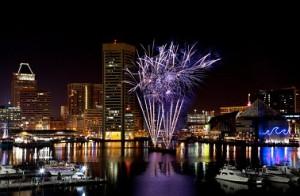 New Year's Eve 2012 fireworks over Inner Harbor. (Photo: Leslie Furlong)