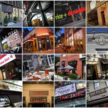 The restaurants of 14th Street NW. (Photo: Luis Gomez)