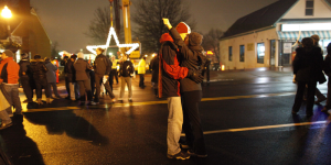 Two lovers ring in 2013 with a midnight kiss at Watch Night 2012. (Photo: Watch Night)