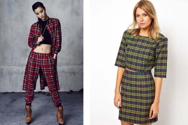 Left: Rihanna for River Island (Photo: Vogue) Right: ASOS reclaimed vintage check top (Photo: ASOS)